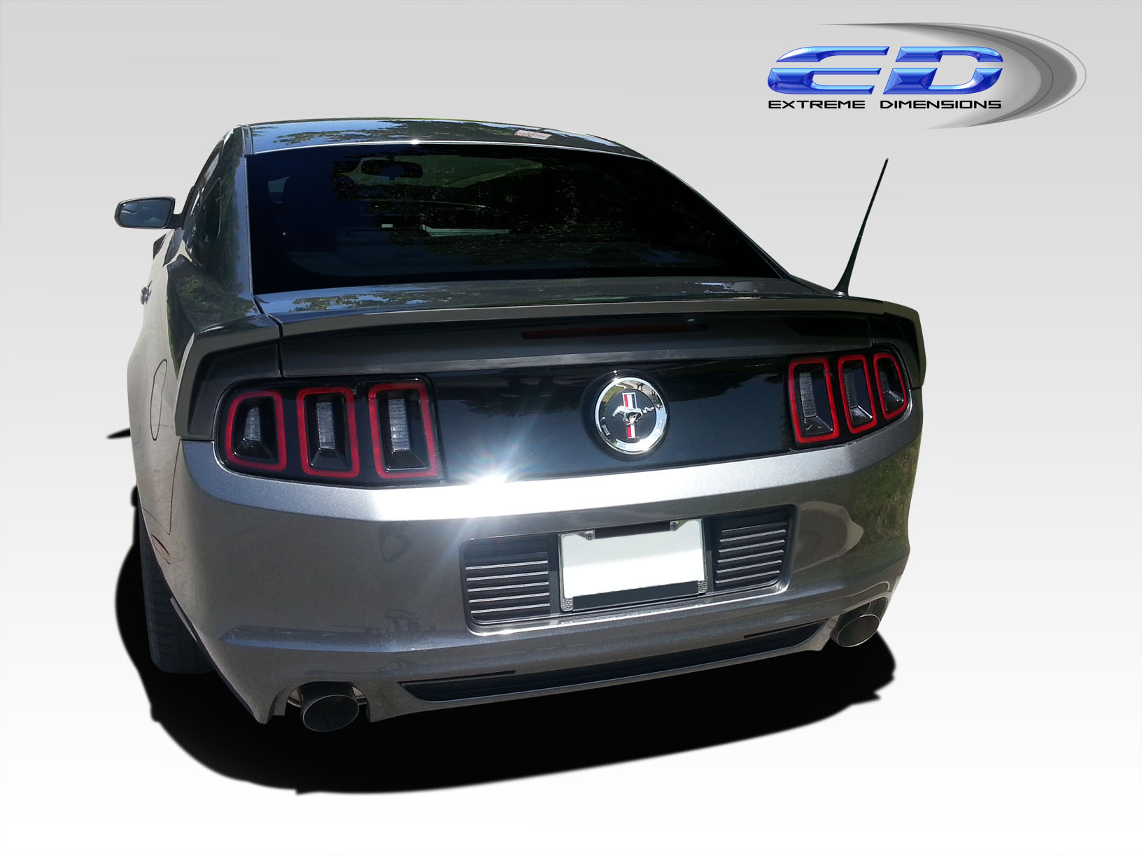 Extreme dimensions 2010 2012 ford mustang urethane sl n rear wing trunk lid spoiler 3 piece