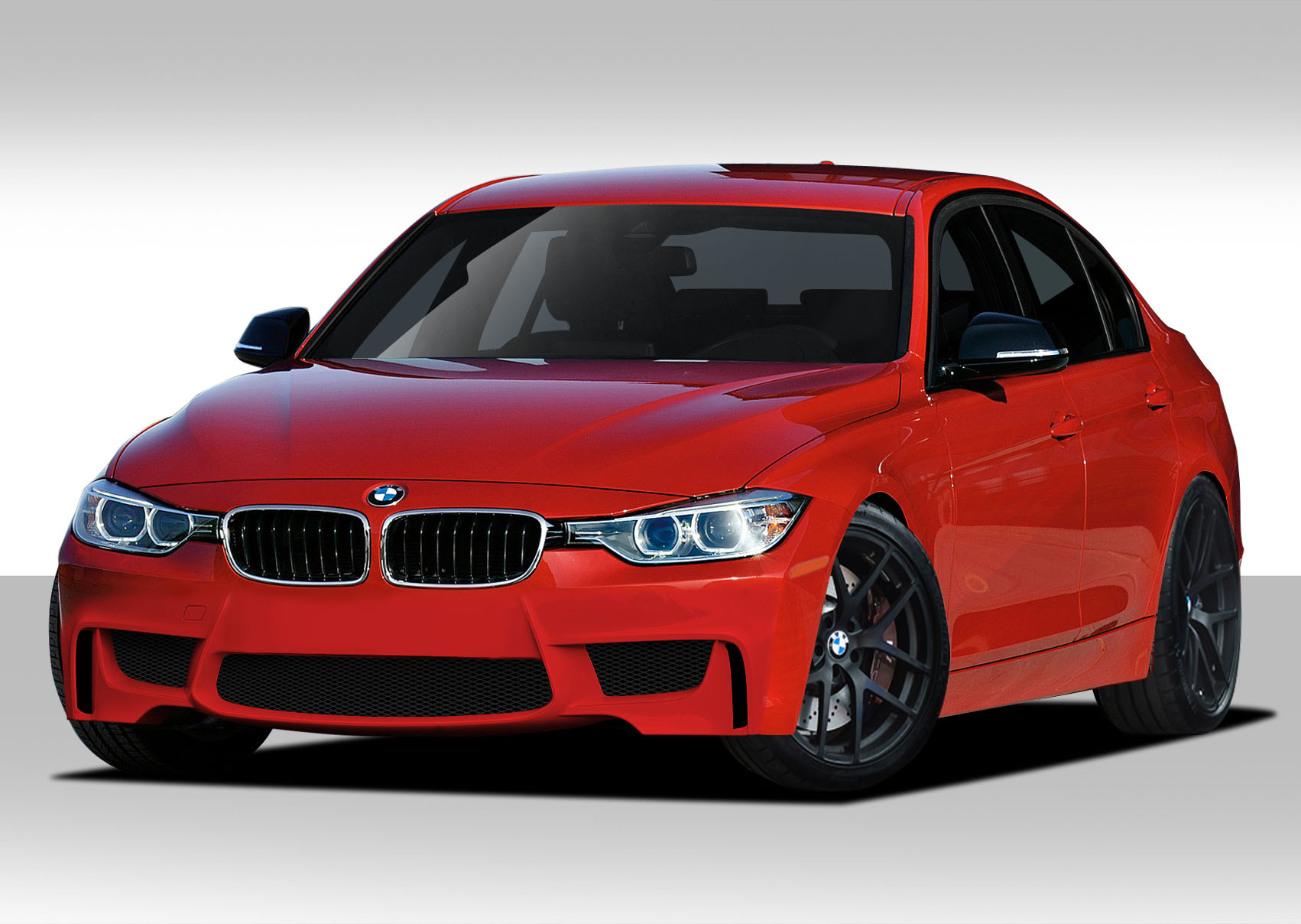 Extreme dimensions 2012 2013 bmw 3 series f30 duraflex m performance look rear diffuser 1 piece will only fit m sport bumpers